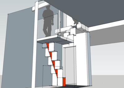 bespoke folded steel plate stair