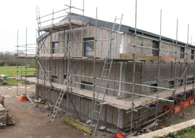 Exterior before cladding installed